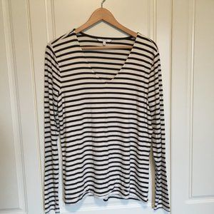 ALFRED SUNG soft striped long-sleeve t-shirt L